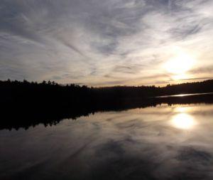 Sunset over Walden Pond