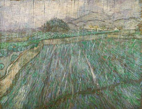 Vincent Van Gogh-Rain 1889