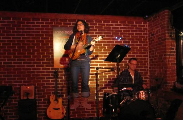 levitating at open mic